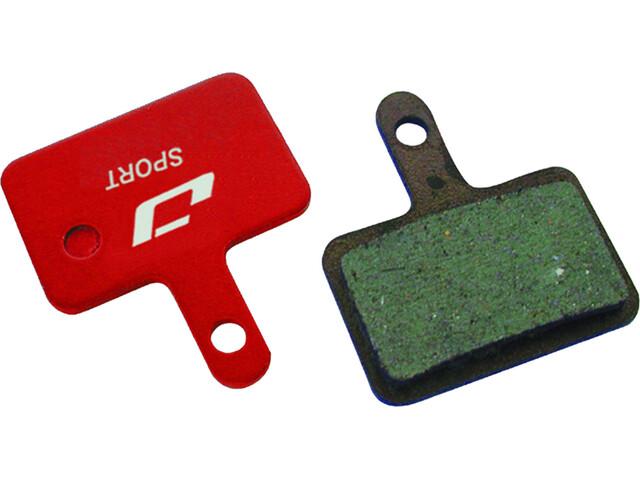 Jagwire Disc Sport Semi-Metall Bromsbelägg För Deore/Tektro Auriga Comp/Aquila/RST D-Power grå/röd